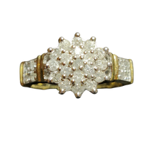 Load image into Gallery viewer, Vintage Diamond Cluster Ring