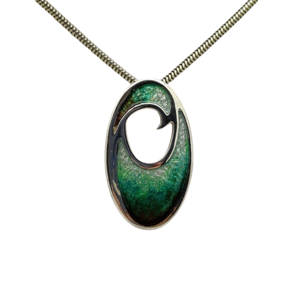 Malcolm Gray Silver Enamel Necklace