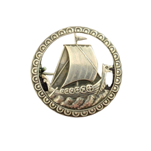 Load image into Gallery viewer, Norwegian Nils M.Elvik Silver Viking Brooch