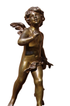 Load image into Gallery viewer, Strikingly Beautiful French Bronze Cupid, signed Auguste Moreau, 1861-1906