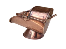 Load image into Gallery viewer, Georgian Copper Coal Helmet/ Scuttle