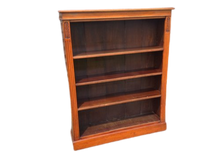 Load image into Gallery viewer, Victorian Mahogany Open Bookcase