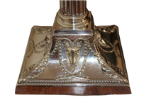 Load image into Gallery viewer, Superb Pair of Fine Victorian Silver-plated Candlesticks crafted by Walker and Hall of Sheffield, England, circa 1893.