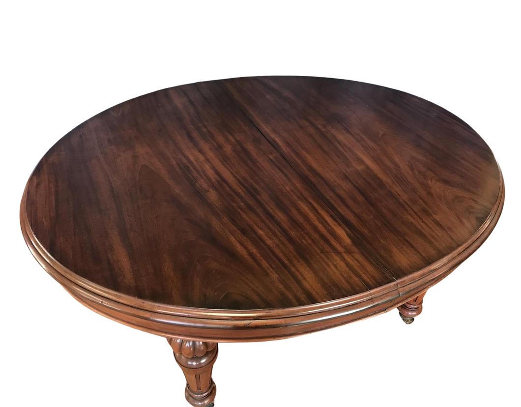 Victorian Walnut 10 Seat Extending Dining Table