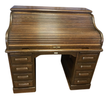 Load image into Gallery viewer, Derby Oak Roll Top Desk