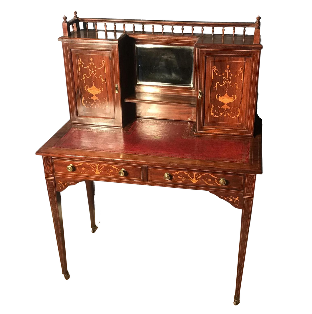 Edwardian Inlaid Rosewood Desk