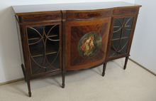 Load image into Gallery viewer, Superb Fiddleback Mahogany Painted Cabinet