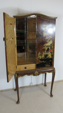 Load image into Gallery viewer, Walnut Chinoiserie Cocktail Cabinet