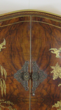 Load image into Gallery viewer, Superb Walnut Chinoiserie Cocktail Cabinet