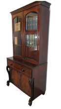 Load image into Gallery viewer, Mahogany Secretaire Bookcase