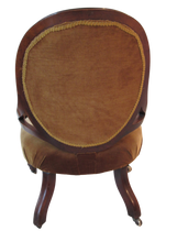 Load image into Gallery viewer, Victorian Walnut Lounge Chair
