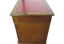 Load image into Gallery viewer, Mahogany Victorian Pedestal Desk