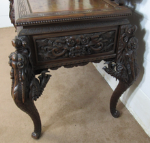 Load image into Gallery viewer, Fantastic 19th Century Carved Dressing Table