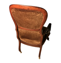 Load image into Gallery viewer, Victorian Mahogany Scroll Arm Nursing Chair