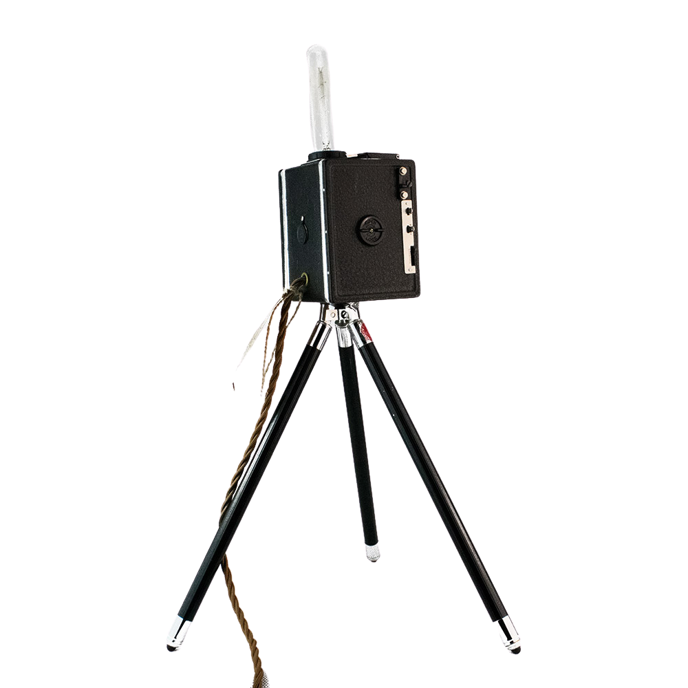 Converted 1950s Camera Tripod Light