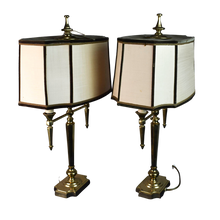 Load image into Gallery viewer, Pair of Vintage Brass Lamps