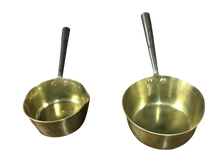Load image into Gallery viewer, Two Georgian Brass & Steel Pans
