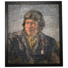 "Load image into Gallery viewer, 20th Century Art Oil Painting Portrait WW2 Avaitor ""The Pilot"" Ivan Nikolayevich Shulga, (1889-1956)"