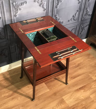 Load image into Gallery viewer, Edwardian Inlaid Mahogany Sewing Box by Walter Carter Harrods Ltd