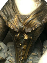 Load image into Gallery viewer, Art Nouveau Bronze Aristocratic Important Lady Seated Maquette Sculpture Signed Xavier Raphanel
