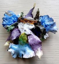 Load image into Gallery viewer, Royal Crown Derby Porcelain Orchid Brooch - THE VINTAGE LOOK Henley-on-Thames