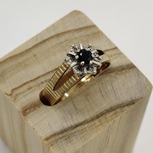 Load image into Gallery viewer, Vintage Sapphire & Diamond Ring