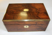 Load image into Gallery viewer, Attractive Victorian Writing Slope in Walnut with secret drawers.