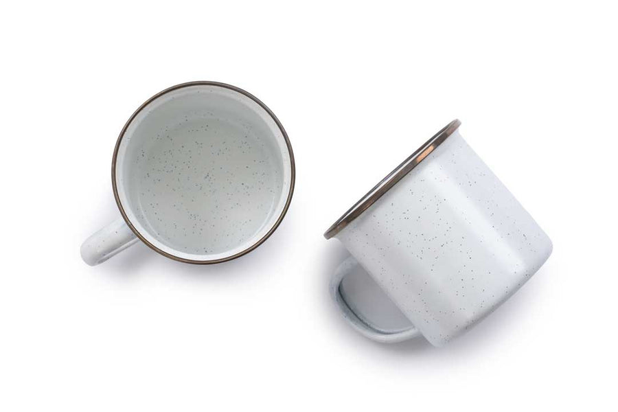 Enamel Cups Eggshell (Set of 2)