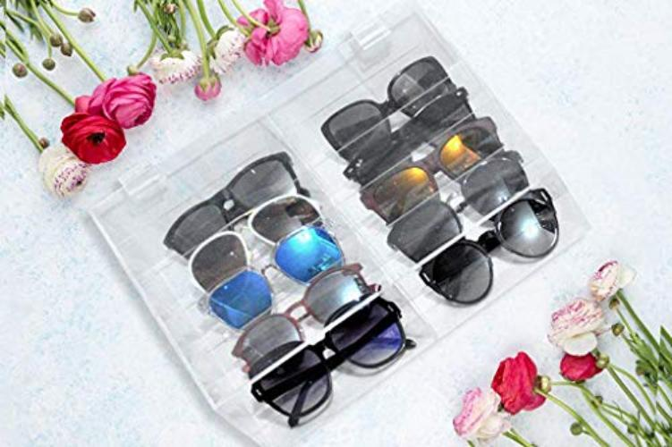 XCHANGEABLES acrylic sunglass storage case 10-compartment