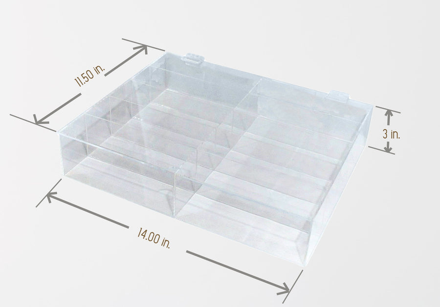 Acrylic Sunglasses Storage Box 10-Compartment