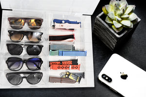 XCHANGEABLES acrylic sunglass storage case 10-compartment_02