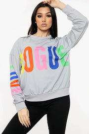 Vogue Printed Sweatshirt