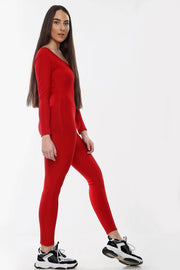 Red Unitary Jumpsuit