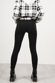 BLACK SLINKY HIGH WAISTED LEGGING