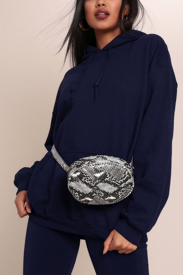 NAVY OVERSIZED PULLOVER HOODIE