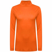 LADIES LONG SLEEVES POLO NECK STRETCH TOP TURTLE NECK JUMPER