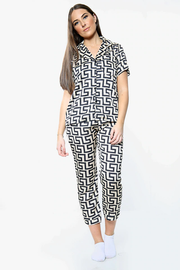 Satin Pyjama Co-Ord Trouser Set