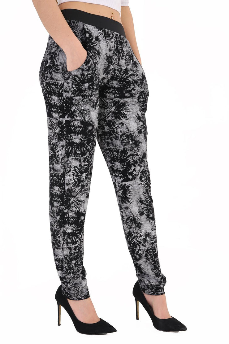 Women 2 Pocket Tydye printed Hareem Trousers