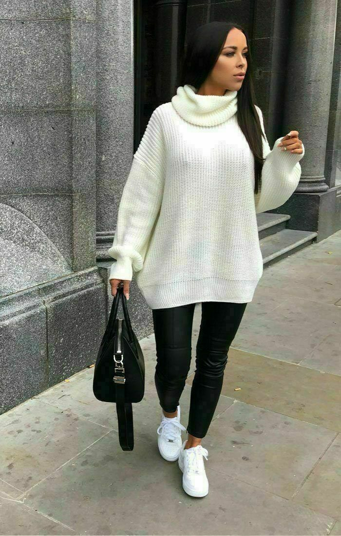 Ladies Women's Chunky Knitted High Polo Roll Neck Baggy Oversized Jumper Dress