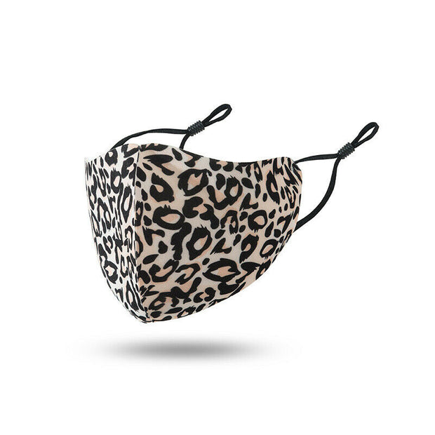 Brown Leopard Washable Polyester Face Mask