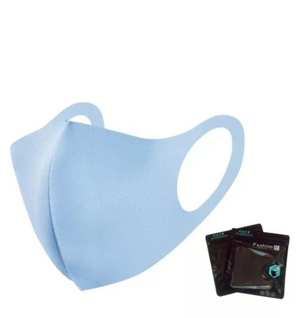 Washable Blue Polyester Cotton Face Mask