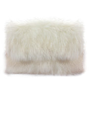Fur Folded Clutch Bag