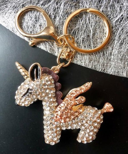 "Porte-Clefs Cheval ou Licorne ""Brillants"""