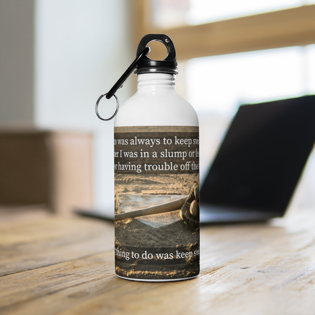 Hank Aaron Quote - Stainless Steel Water Bottle