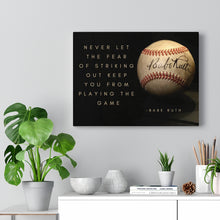 Load image into Gallery viewer, Babe Ruth Ball - Canvas Gallery Wraps