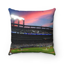 Load image into Gallery viewer, Citi Field Sunset - Mood Pillow - Spun Polyester Square Pillow