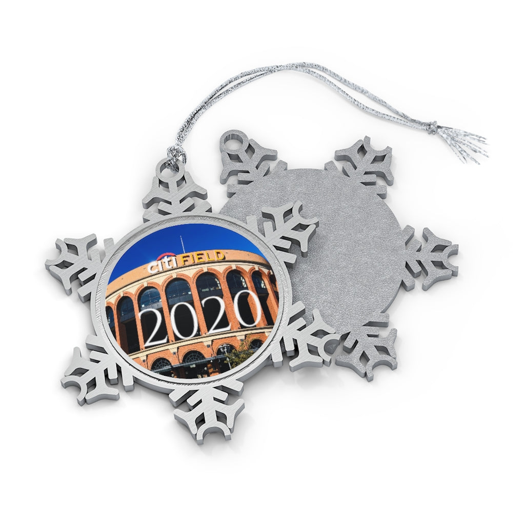 Citi Field - 2020 - Pewter Snowflake Ornament