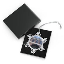 Load image into Gallery viewer, Hall of Fame Exterior - Timeless - Pewter Snowflake Ornament