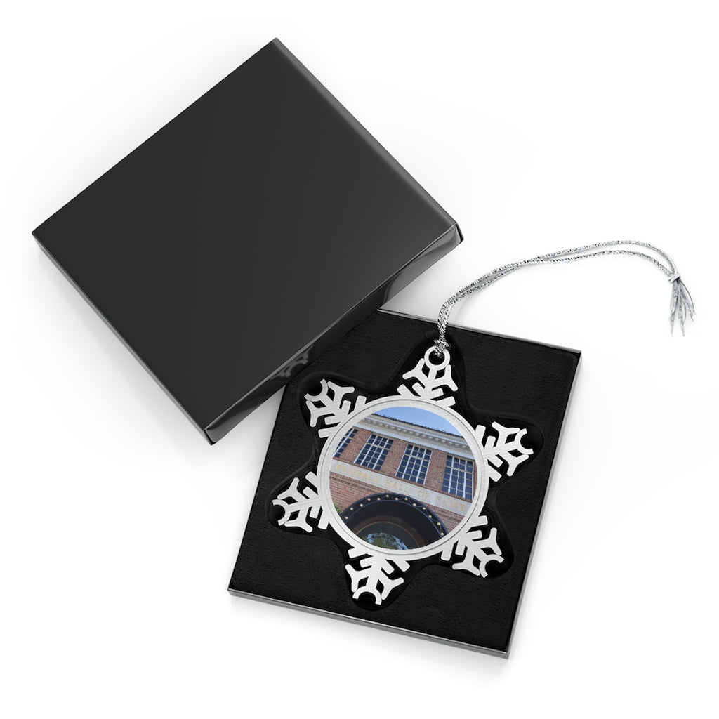 Hall of Fame Exterior - Timeless - Pewter Snowflake Ornament