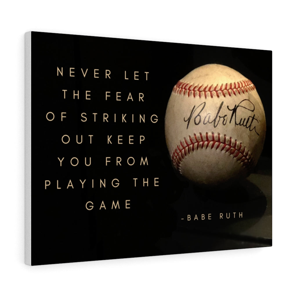 Babe Ruth Ball - Canvas Gallery Wraps